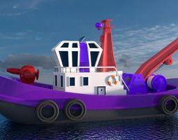 3D model Tug Boat Seacraft