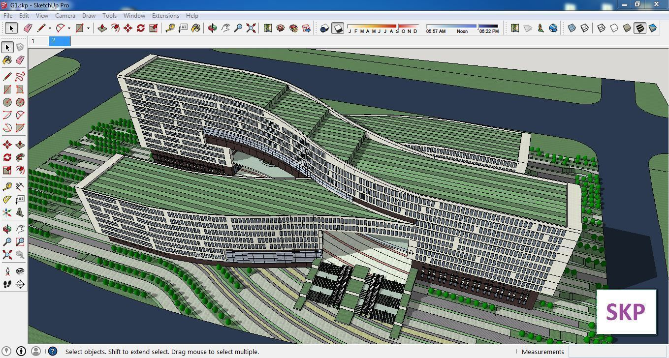 Sketchup office building G1