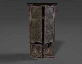 Antique Cupboard Game Ready 3D model