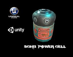 3D asset Sci-Fi Battery Cell