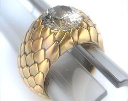 SnakeSkin Ring 3D print model