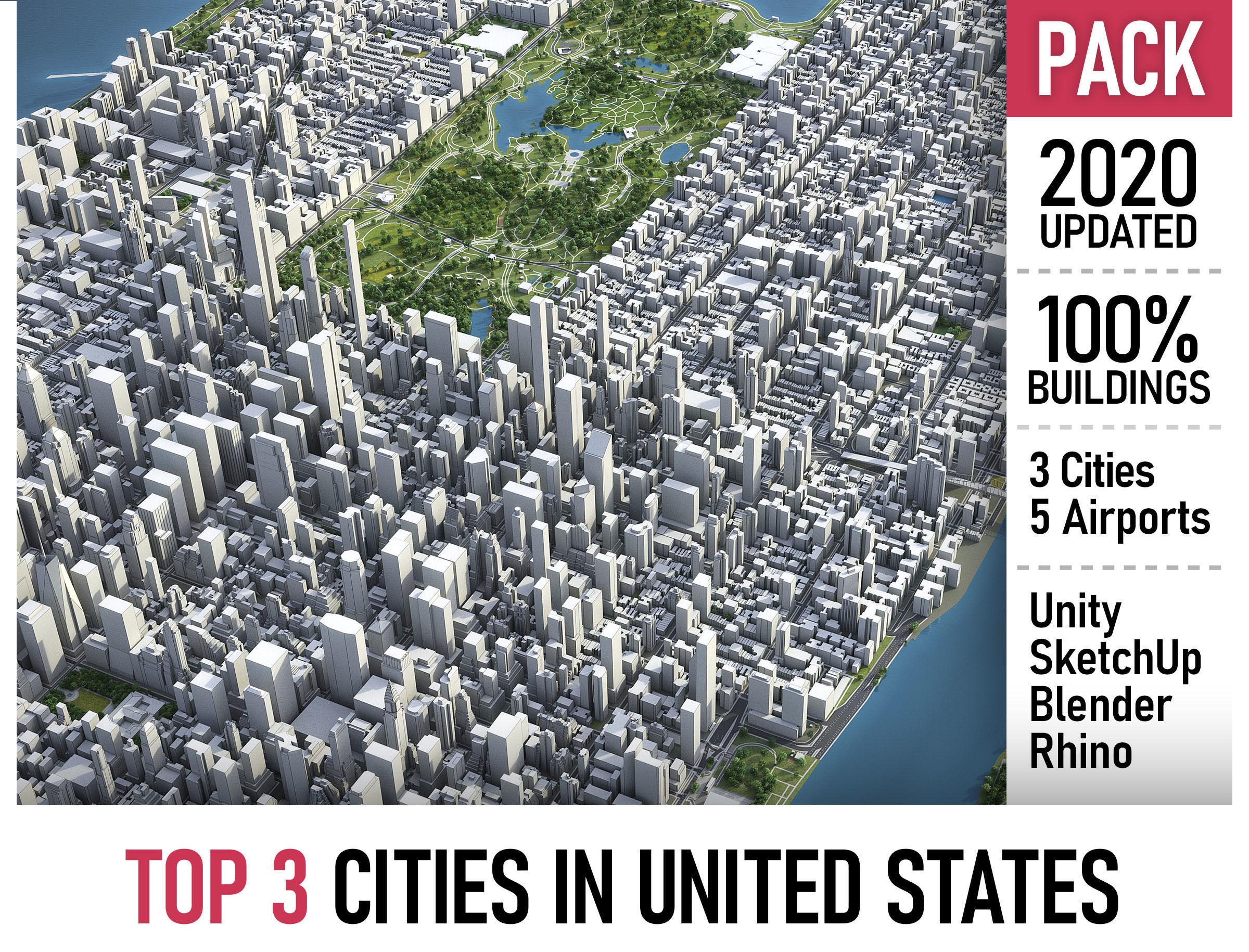 Top 3 US Cities