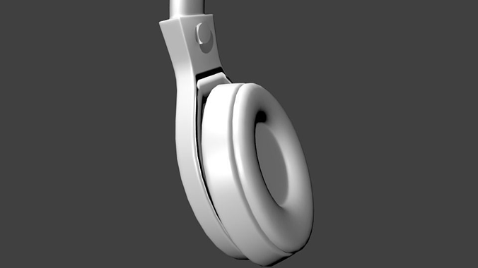 headphones 3d model fbx blend 1