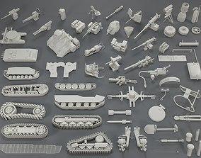 Tank Parts - 60 pieces - collection-1 3D asset