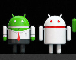 Android 3d logo mech