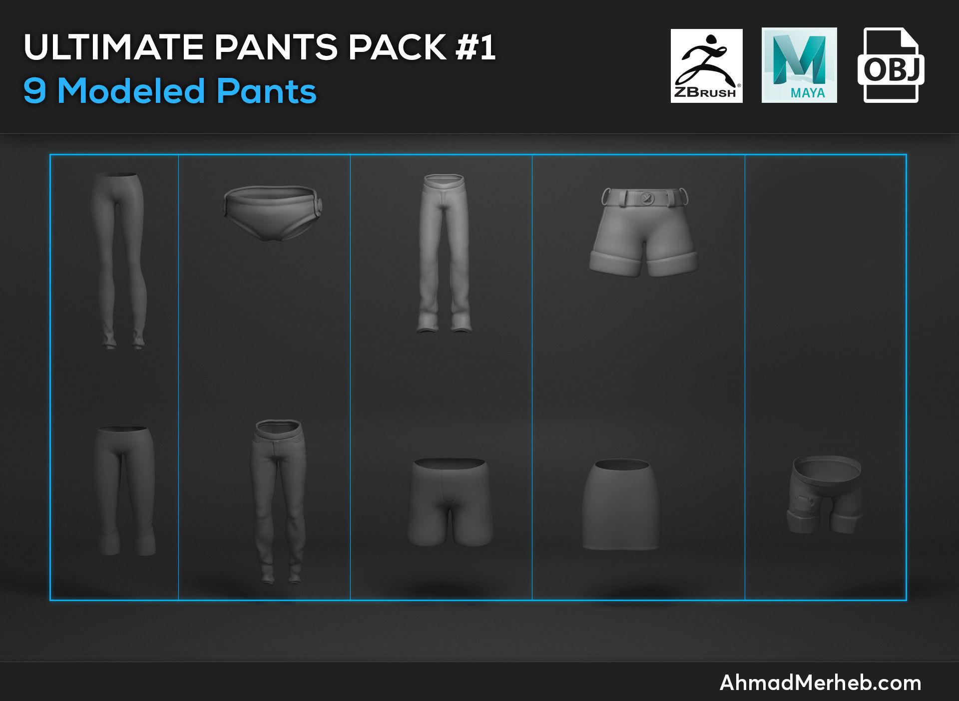 Ultimate Pants Pack  1 Models