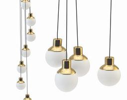 Mass gold light lamp 3D model