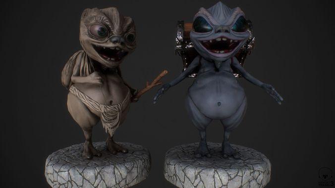 thief goblin 3d model obj mtl 3ds fbx c4d dae ztl 1