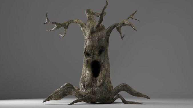 evil tree halloween 3d model