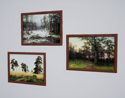3D asset North style nature painting October