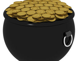 Pot of Gold 3D model