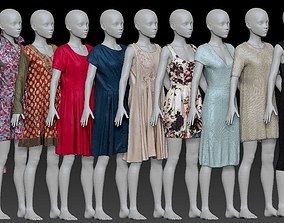 20 Dresses Collection 3D model