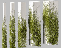 3D Leaves for square columns of different sizes