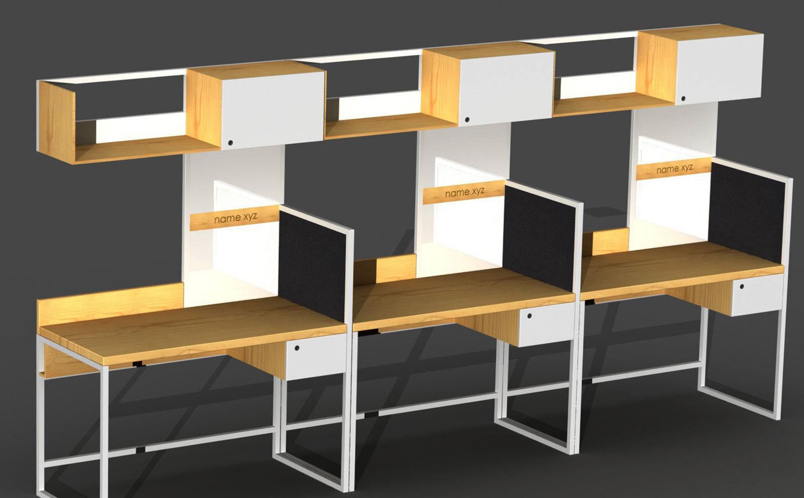 ... Office Workstation Design 3d Model Sldprt Sldasm Slddrw ...