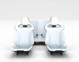 3D Tesla Roadster Seats sport