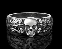 3D printable model Totenkopf Ring