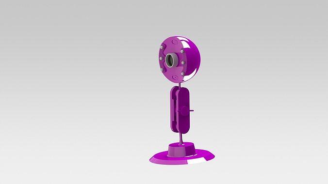 Web Cam 3d Model Stl Sldprt Sldasm Slddrw