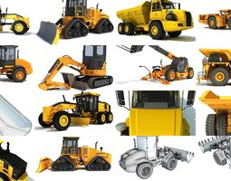 3D model Construction Heavy Vehicles Collection
