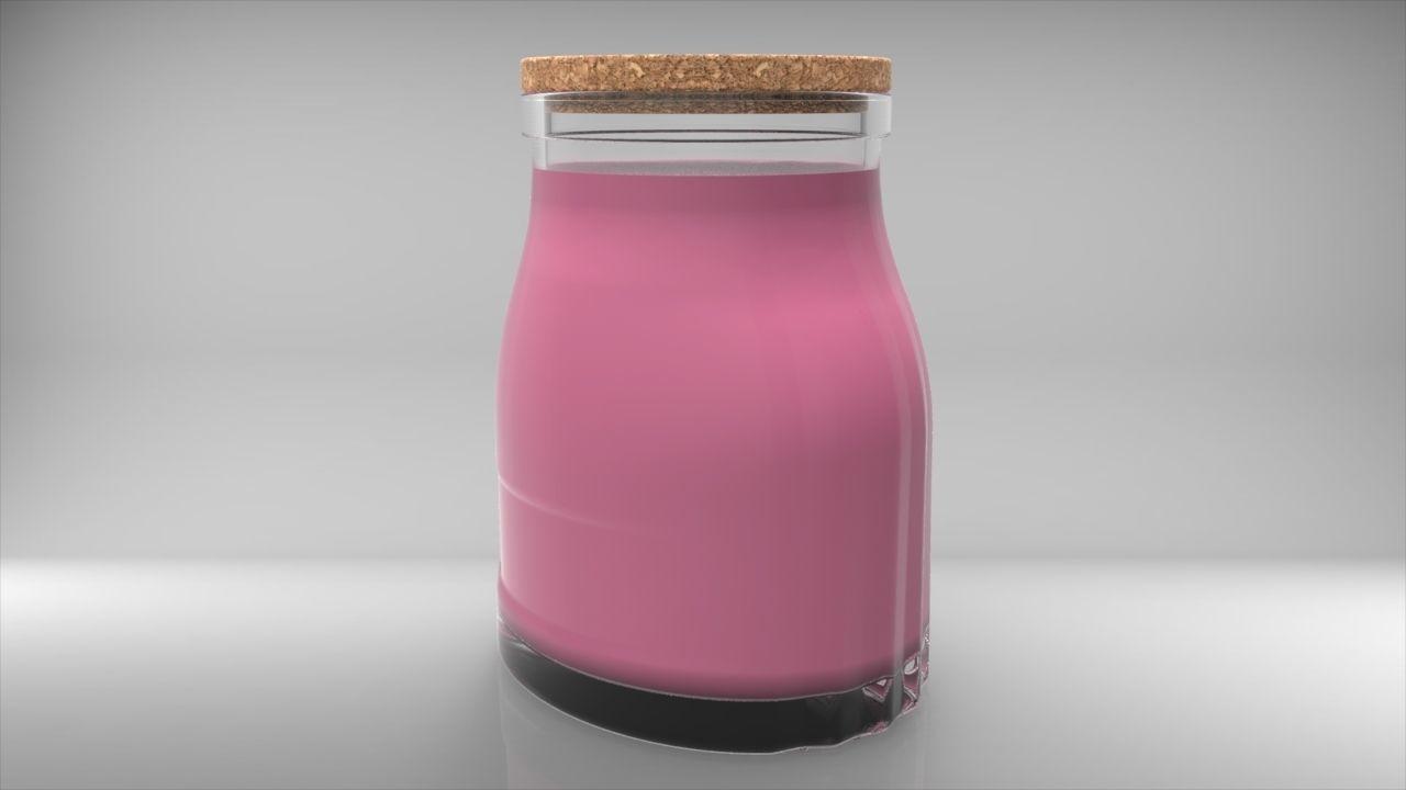 Oval Jar 1000ml | 3D model