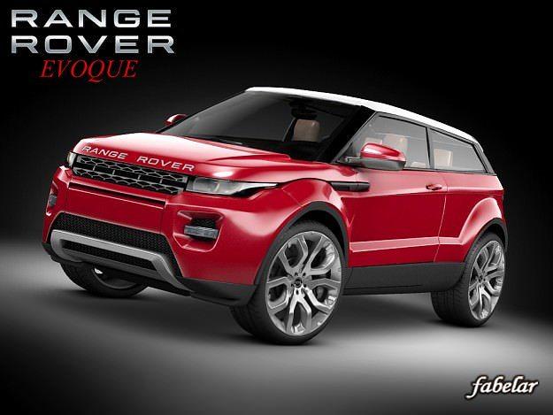 range rover evoque 3d model rigged max mat. Black Bedroom Furniture Sets. Home Design Ideas
