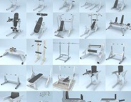 3D model Gym Equipment Kit fitness