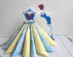 3D print model Napkin Holders Fashion Girl