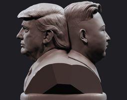 3D print model Donald and Kim 1