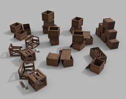 3D model Crate - Ready to Use