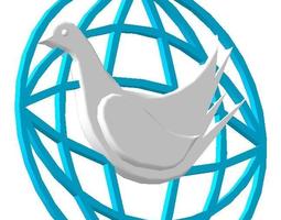 Pigeon pendant 3D printable model