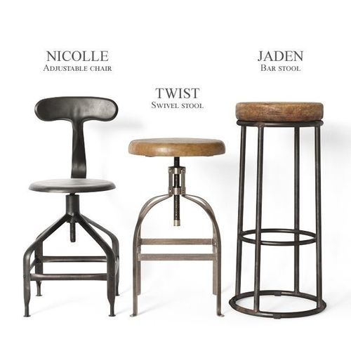 3d Model Industrial Stools And Chairs Part2 Cgtrader