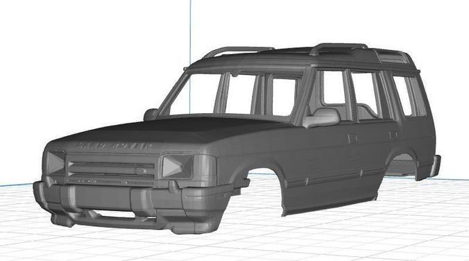 land rover discovery body car 3d model max stl 1
