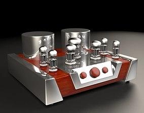 3D model Vacuum tube amplifier 02 retro