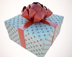 A holiday package-box 3D