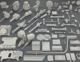 3D asset Tank Parts -61 pieces- collection-4