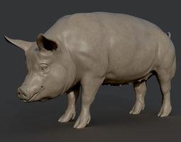 Pig Sculpture 3D printable model