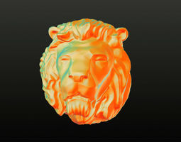 Lion Head 3D printable model dutch