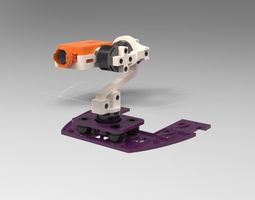 3D printable model Gimbal Zeta FX-61 Phantom Flying Wing 1
