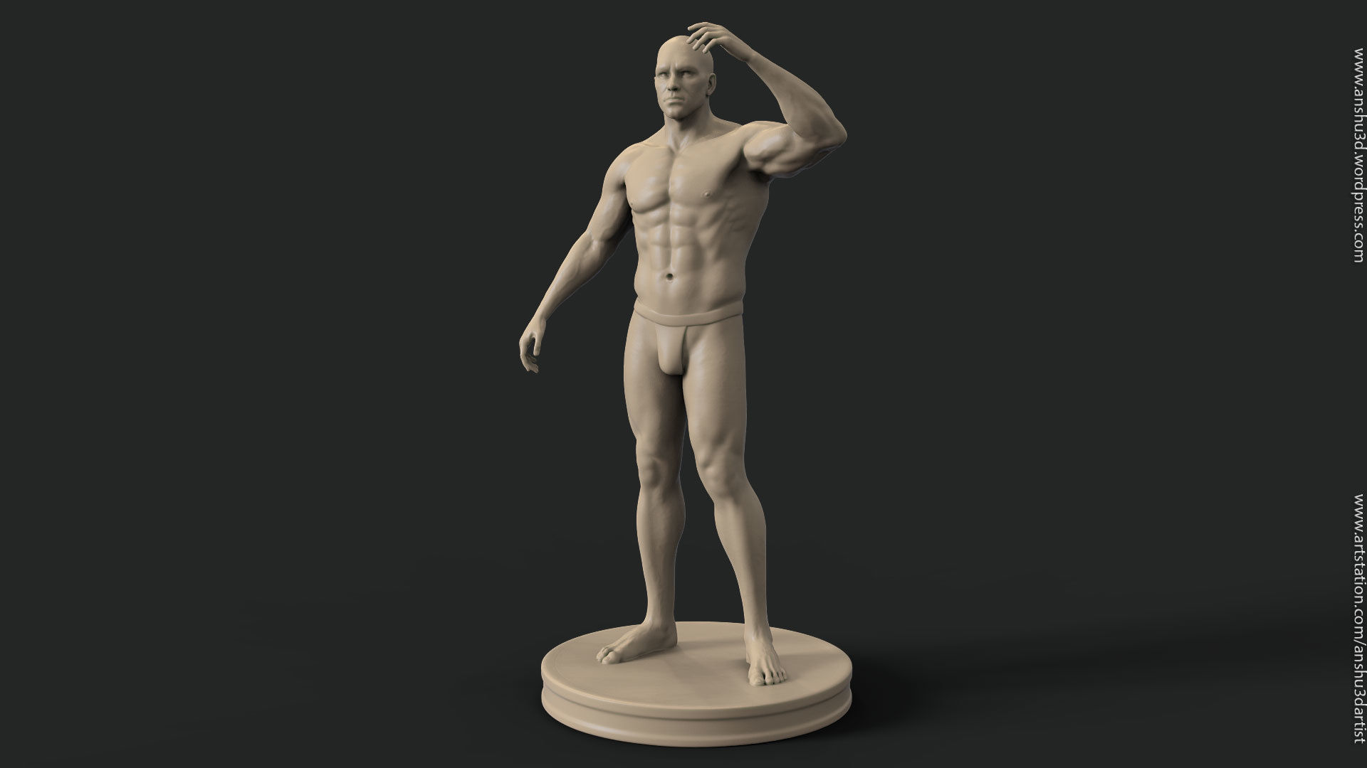 Human male body vol 1 for 3d printing