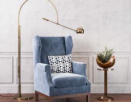 Avalon Lounge Chair 3D