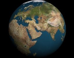 Earth Globe 3D model 3d-skyline