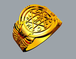 considered King Solomon Ring 3D printable model