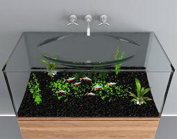 3D model aquarium sink