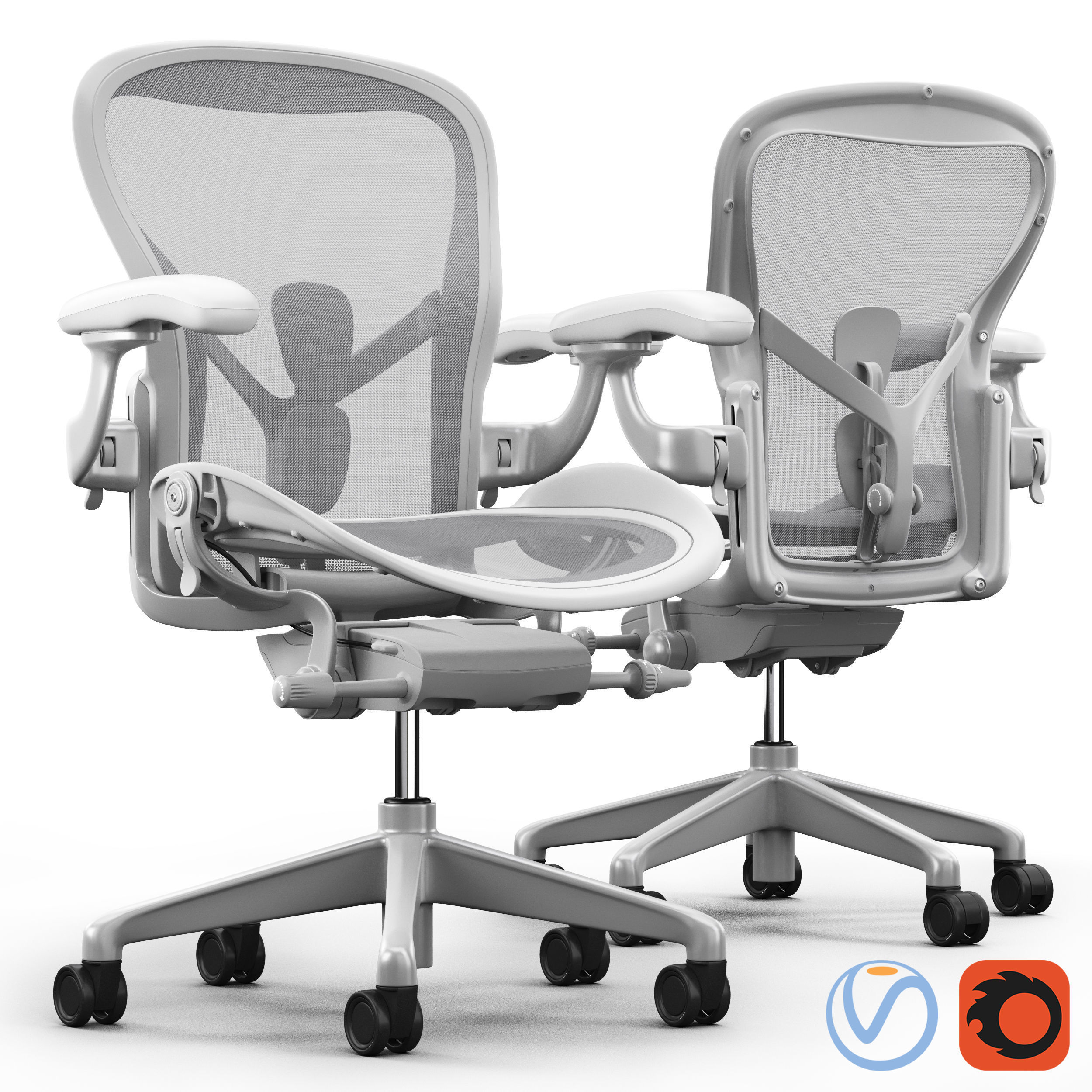 Chair Herman Miller Aeron  48D model