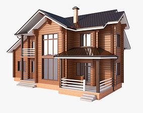 3D Wooden house 03