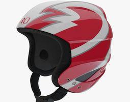 Giro Sestriere Helmet Red 3D model