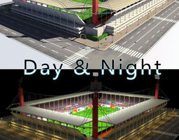 Stadium Level 5 Day-Night 3D asset
