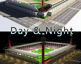 Stadium Level 5 Day-Night 3D asset