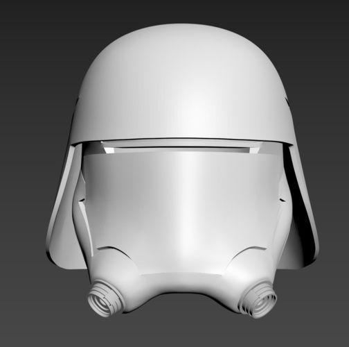 star wars tfa first order snowtrooper flametrooper helmet 3d model stl 1