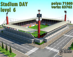 3d model stadium level 6 day realtime