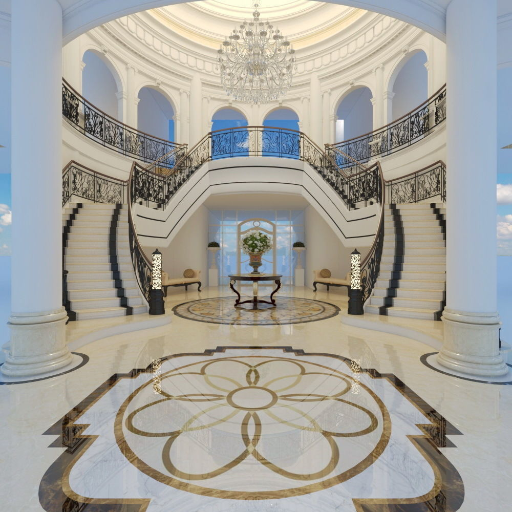 classic stairs entrance hall